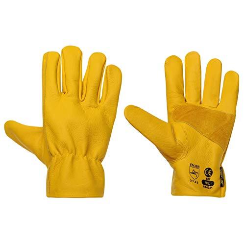 DUNLOP Herren Driver Deluxe Handschuhe Arbeit Leder Mehrfarbig Erwachsene