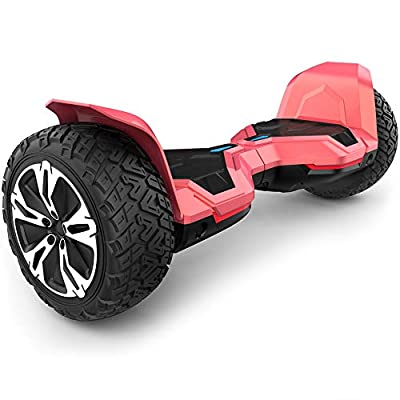 Gyroor Warrior 8.5 inch All Terrain Off Road Hoverboard with Bluetooth Speakers and LED Lights, UL2272 Certified Self Balancing Scooter 2018(Red)