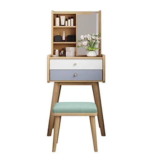 IG Mädchen-Dressing-Tisch Moderner Dressing-Tisch-Stuhl-Make-Up-Eitelkeit-Hocker Gepolsterter Stuhl Mit Gummiholz-Beinen Am Wohnzimmer, Schlafzimmer, Rezeption,Grün