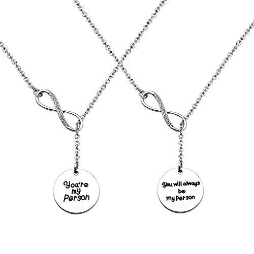 CHOORO You're My Person Best Friend Y Necklace Set BFF Necklace (Necklace Set)