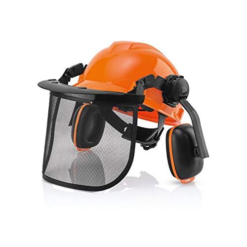 林業用ヘルメット フォレスト 安全 ヘルメット ファンクショナル ヘッドプロテクトコンボセット 草刈り 安全 対策 フェイスガード バイザー イヤマフ付 cukuguard C009