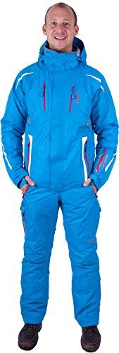 Almwerk Herren Skijacke und Skihose 2.TLG in blau, Größe:S