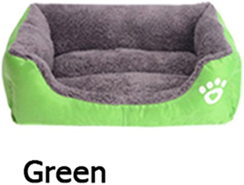 Pet Dog Bed Cushion Mat House Puppy Soft Warm Cushion Kennel Dog Mat Blanket Pad Pet Nest (3XL 1108519cm, Green)