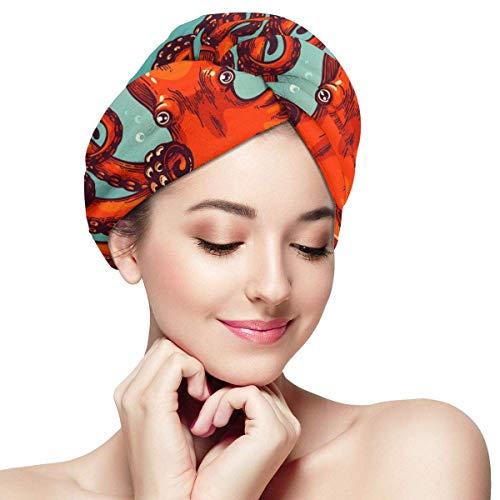 QHMY Serviettes de Cheveux de mer Profonde (28) Capsules de Cheveux à séchage Rapide pour Spa de Bain