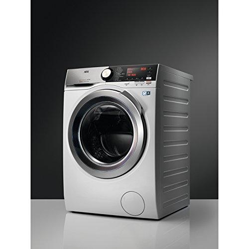 AEG l8wec166X autonomo carico anteriore a Argento, Bianco–Macchine da lavare con asciugatrice (carico anteriore, autonomo, Argento, Bianco, Sinistra, bottoni, girevole, freddo)