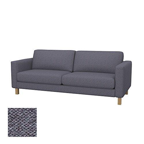 Soferia Funda de Repuesto para IKEA KARLSTAD sofá de 3 plazas, Tela Nordic Anthracite, Gris