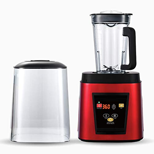Blender Smoothie Maker Smoothies Machine 1800W Professional Countertop Blender with Cover,Stainless Steel Blade,BPA-Free,85 Db, for Commercial Coffee Shop,Red,220V