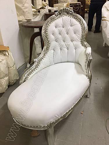 MAXIOCCASIONI Dormeuse barocco argento bianco