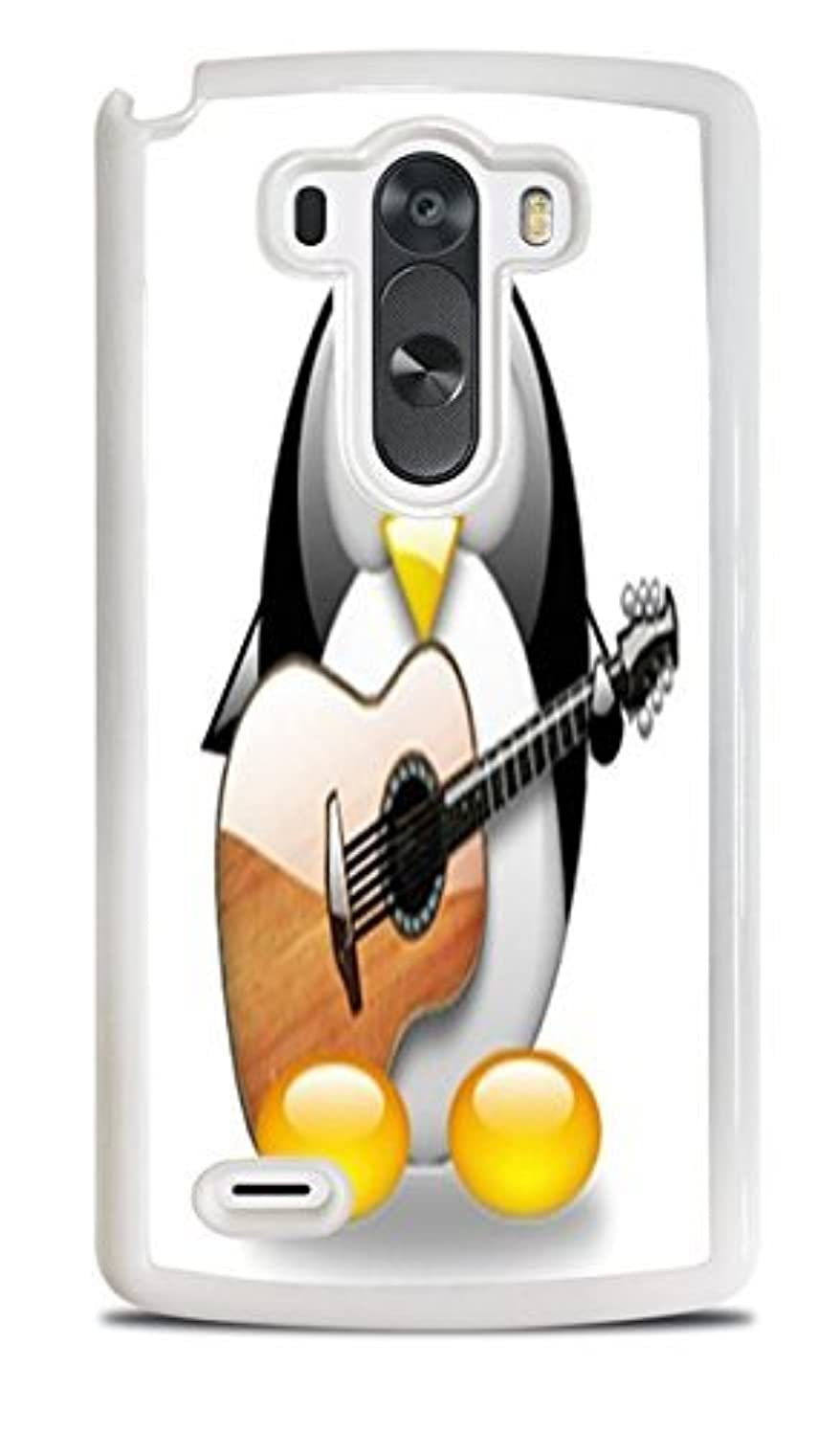 Cute Penguin Playing the Guitar White Hardshell Case for LG G3