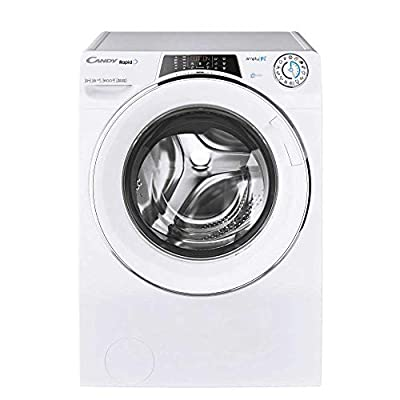 Candy RO1696DWHC7 Freestanding Rapido Washing Machine, WiFi connected, 9Kg Load, 1600rpm spin, White