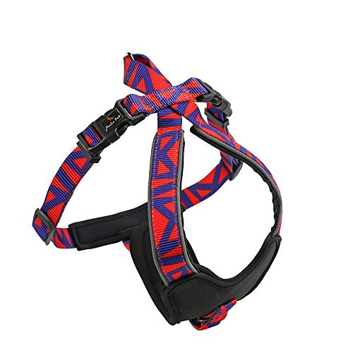 Z-Wind pet Amazon 2019 Dog Vest Harness Explosion-Pet Chest Strap. Soft to The Touch, Bright Color, Wear-Resistant, 3M Reflective Vest Harness,Protect Your Chest Safely(S, Glamour Purple)