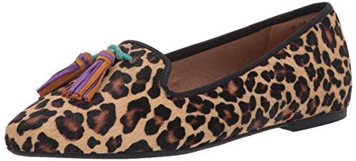 Hush Puppies Sadie Tassel Slipon Loafer Flat, Leopard Calf Hair, 09.0 M US