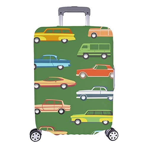 Luggage Cover Set Bus City Daily Transport Durable Washable Protecor Cover Fits 28.5 X 20.5 Inch Protective Cover For Luggage Luggage Covers For Women Best Luggage Cover