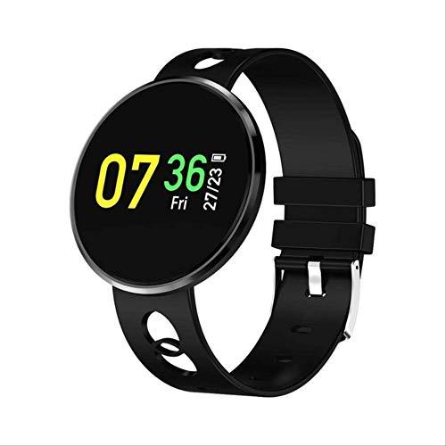 ZHOUMEI Praktische Smart watchNew Smart Fitness Armband Vrouwen Bloeddruk Hartslag Monitoring Polsband Lady Horloge Gift Voor Vrienden (Kleur : Zilveren Gel)