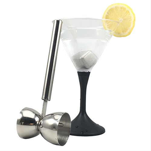 Double Jigger Stainless Steel Cocktail Measuring Cup with Handle