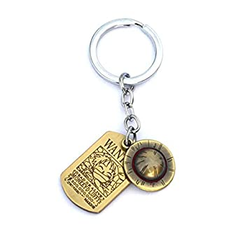 Hot Japan Anime One Piece Keychain Luffy Skeleton The Straw Hat Pirates Rope Key Chain Cosplay