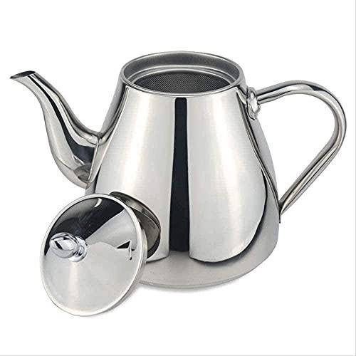 FHISD Tetera de Acero Inoxidable de 1200 ml con Filtro Que se Puede Calentar con una Taza de té de Cocina de inducción 1yess
