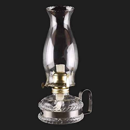 xinke Vidrio Lámpara de Aceite de La Lámpara Artesanía Retro Nostalgia con Mango Lámpara de Keroseno Muebles El Hogar con Mecha