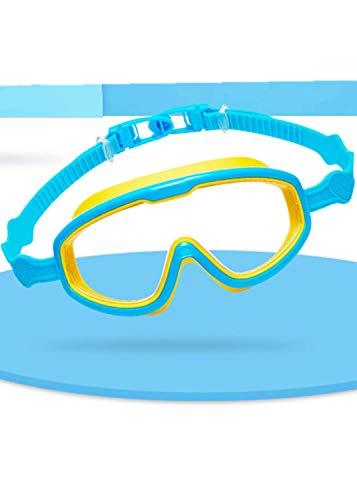 Zerobox - Occhialini da Nuoto, Anti-Appannamento, Impermeabili, per Interni ed Esterni, con Protezione UV, per Bambini e Ragazzi, Giallo e Blu.