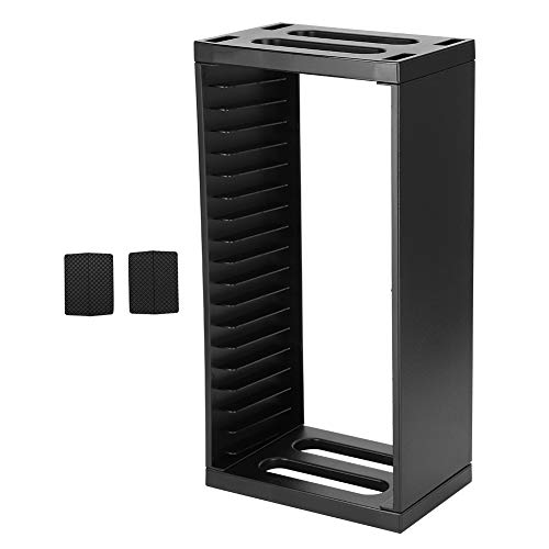 Garsentx Torre de Almacenamiento de Juegos para PS4 Slim Pro Organizador de Soporte de Estante de Doble Capa Almacenamiento de Disco de Juego