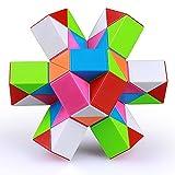 EACHHAHA Serpiente mágica 48 Secciones-Magic Snake Cube-Serpiente Juguete Mágica-Fidget Toys-Juguetes educativos antiestrés-Regalos de Fiesta para niños y Juguetes pequeños(Multicolores*1)