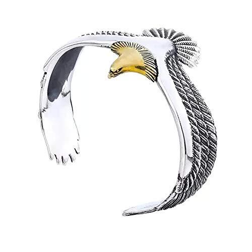 Brazalete de águila - Brazalete de águila de cuervo vikingo Brazalete de joyería pagana Brazalete de águila, para hombres y mujeres Brazalete de extremo abierto