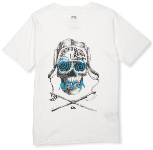 Quiksilver Basic T-Shirt Manches Courtes garçon Blanc FR : 10 Ans (Taille Fabricant : T10)