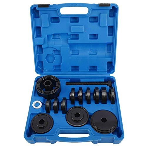 KUNTEC 23Pcs FWD Front Wheel Drive Bearing Adapters Puller Press Replacement Installer Removal Tool Kit