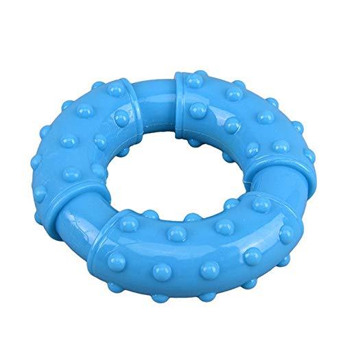 Fontsime 中型および大型犬ゴールデンモラーペットおもちゃドーナツブラシポイントデザイン丸型安全で柔らかいペットおもちゃブルー