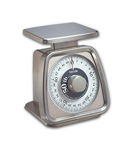 Taylor Precision Products Stainless Steel Analog Portion Control Scale 50Pound