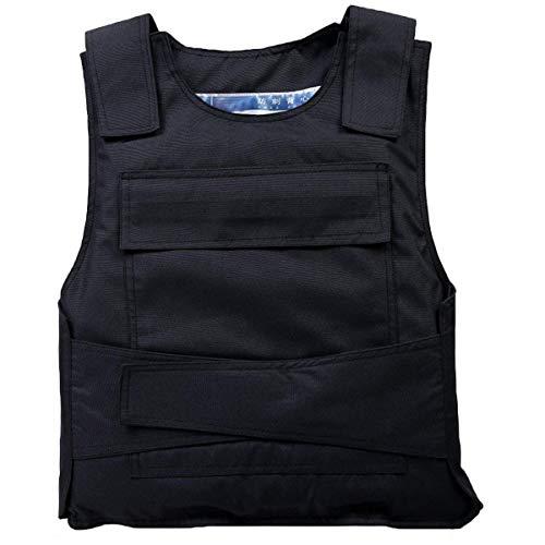 LanXi Stichschutzweste,Stichhemmende Tactical Unterziehweste Taktische Schutzweste für den Außenbereich (Schwarze, one Size)