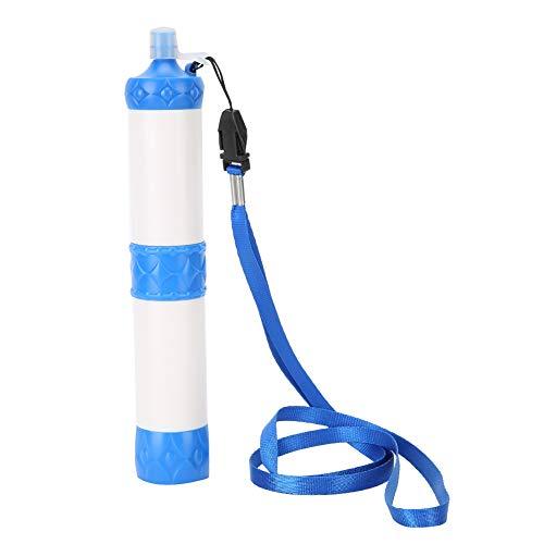 Paja de filtro de agua, filtración de emergencia personal portátil Purificador de agua Pajitas de supervivencia al aire libre desmontables para acampar Senderismo Viajes Escalada Mochilero Equ