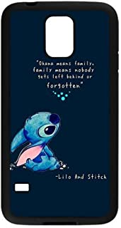 Cell World LLC - LeonardCustom Protective Hard Rubber Coated Cover Case for Samsung Galaxy S5, Lilo and Stitch