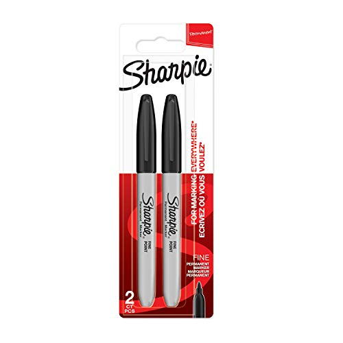 Sharpie Permanent Markers | Fine Point | Black | 2 Count