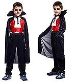 Inception Pro Infinite Disfraz – Disfraz – Carnaval – Halloween – Vampiro – Drácula – Twilight – Color negro – Dientes incluidos – Niño – Talla XL – 9 – 10 años – Idea de regalo original
