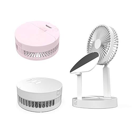 Clenp Ventilador, Ventilador De Refrigeración por Aire De Espejo De Maquillaje De ángulo Ajustable Giratorio De Escritorio Plegable Mini USB Rosa Talla única