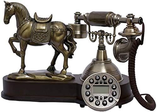 DHFDHD Teléfono Antiguo Antiguo con Cable de teléfono, Fijo Resina Botón Retro del teléfono Digital teléfonos de línea Decorativa de la Vendimia de la línea Horizonte for Ministerio del Interior