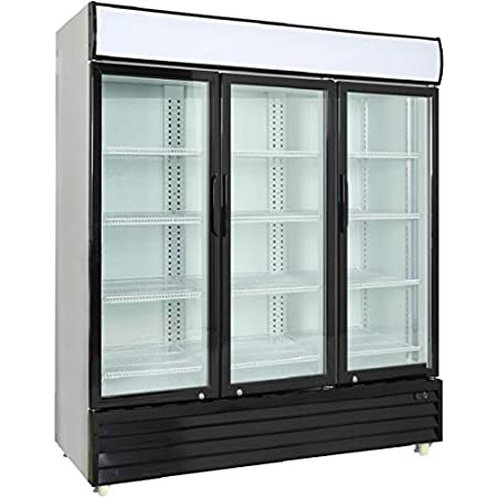Amazon Com Procool Commercial Glass 3 Door Merchandiser Upright Reach In Beverage Cooler Display Refrigerator 56 5 Cubic Ft Appliances