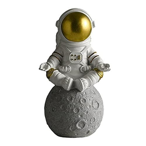 LOVIVER Arte Spaceman Figure in Resina Astronauta Scultura Giocattoli Regali per I Bambini Adulti Ragazzi in Camera per La Casa Soggiorno camera Da Letto TV - gold meditate