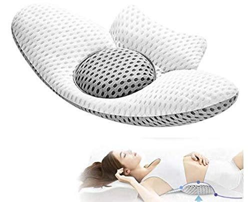 FC Fancy Cojín lumbar para dormir, cojín lumbar 3D, para la parte inferior de la espalda, para la ciática, alivio del dolor, para la cama, para dormir de lado, espalda y boca abajo