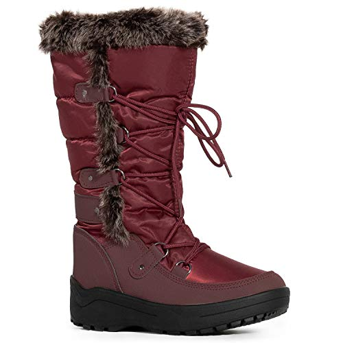 RF ROOM OF FASHION Women's Waterproof Warm Fur Lined Cold Weather Snow Rain Boots