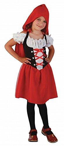 P'TIT CLOWN 81274 Déguisement Enfant Chaperon - L - Rouge