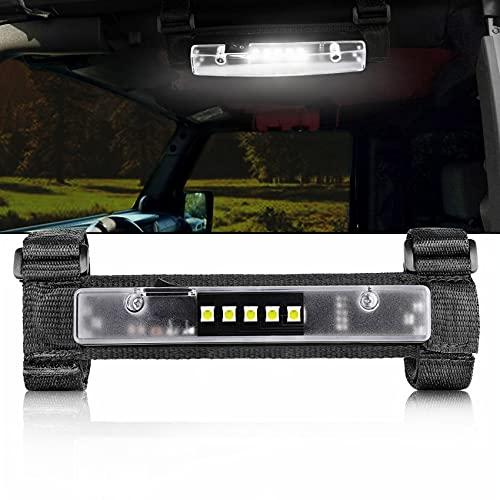 Niwaker Universal Roll Bar Mount for LED Light Interior Light Utility Roll Cage Light Courtesy Wraparound Light Roll Bar Dome Light for UTV ATV Truck Off Road Pickup Polaris