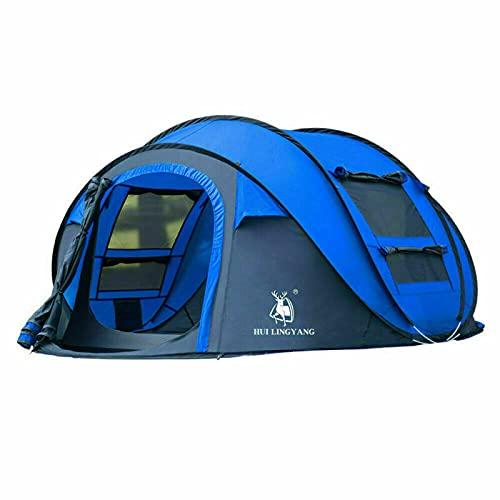 Tienda de campaña para 3 – 4 personas, instalación automática, doble capa, tiendas familiares instantáneas para camping, senderismo y viajes, transpirable, al aire libre