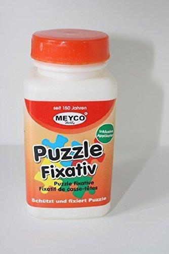 bastelkoerble® Puzzlekleber 120ml mit Applikatorpinsel.