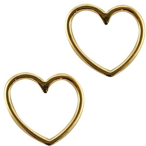Sadingo DQ metalen sieradenconnector, hangers, bedels goud - textielbandjes zelf maken, macramé armbanden knutselen