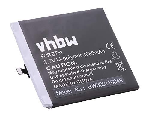 vhbw Li-Polymer Akku 3050mAh (3.8V) für Handy Smartphone Telefon Meizu M575, M575 Dual SIM, M575M, M575U, MX5, MX5 Dual SIM wie BT51.