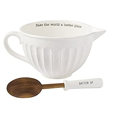 Mud Pie Circa Mixing Bowl Set, White