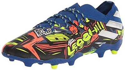 adidas Boy's Nemeziz Messi 19.1 Firm Ground Soccer Shoe, Royal Blue/Silver/Yellow, 5.5 Little Kid