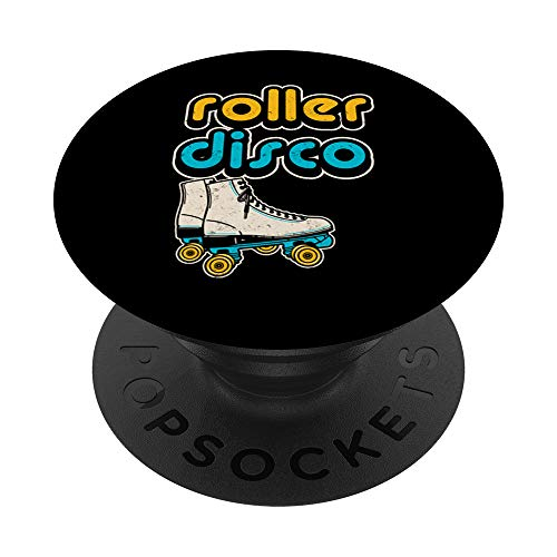 Retro 70er Jahre Stil Roller Disco Rollschuhe - PopSockets Ausziehbarer Sockel und Griff für Smartphones und Tablets
